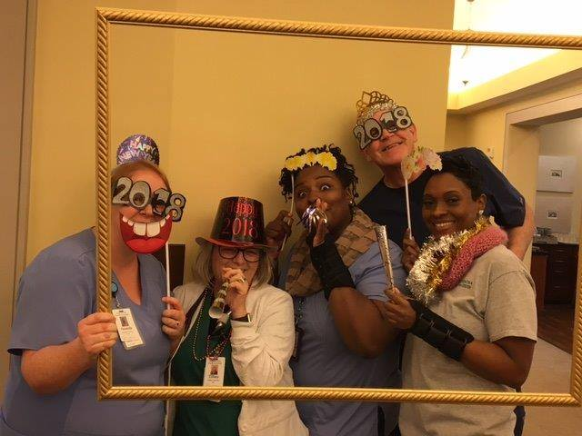 Huntersville team celebrating New Year's Day 2018