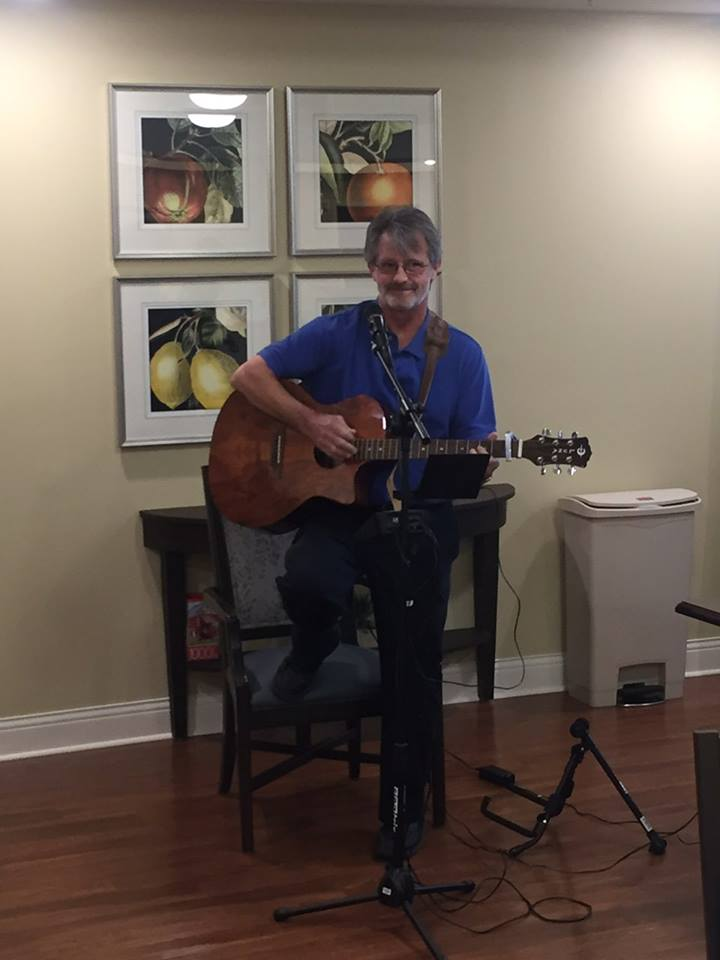 Maintenance Director, Michael Smelzer, entertaining patients
