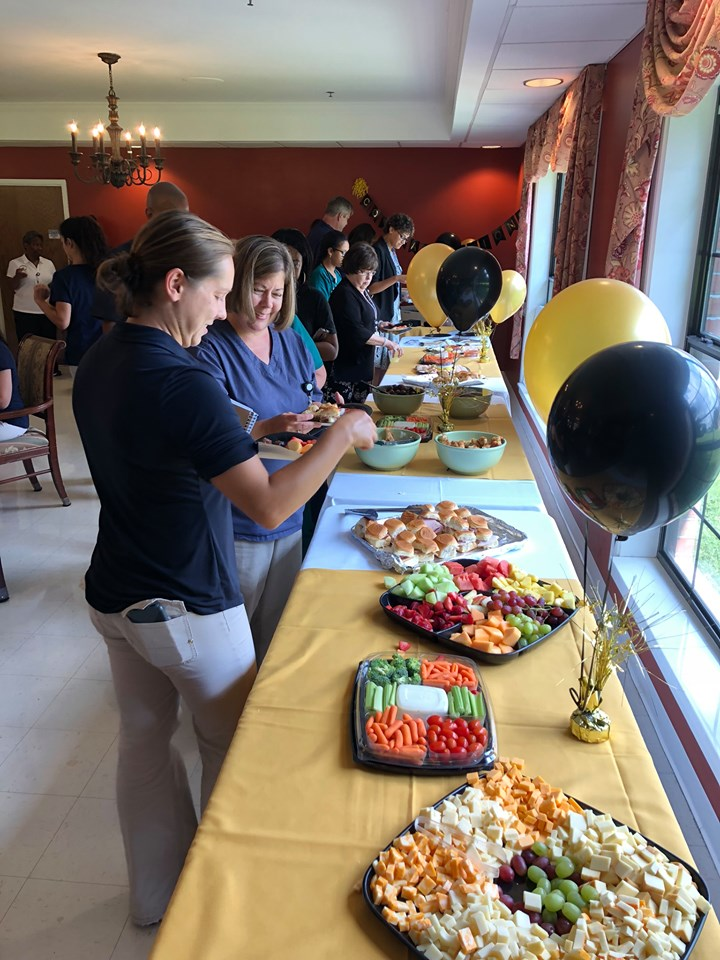 Picture of food at the celebration