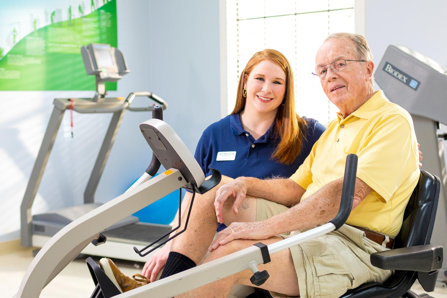 Bill Palmer with a LifeWorks Rehab Therapist