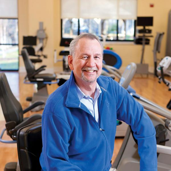 Patient in LifeWorks Rehab Gym